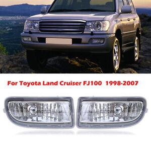 For Toyota Land Cruiser 1998-2007 J100 J105 Front Fog Light Lamp Housing Pair