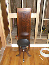 Antique Wooden Exam Chair Physician Doctor ENT