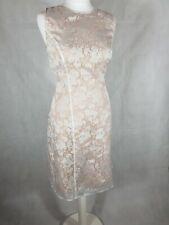 Linea Size 12 Dress Gold/White Organza Wedding Outfit Garden Party