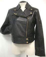 Motorcycle Style Jacket Nwt Sz M Designers Brand Black Ultra Soft Sheep Leather