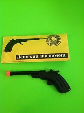 Vintage USSR Gun tin Toy Soviet Metal Caps Pistol (Video)