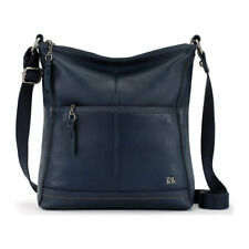 The SAK Iris Leather Crossbody Shoulder Bag Indigo (blue)