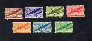 USA. 1941-44. AIR MAIL SET x 7 STAMPS G.U/M.N.G. SG No's A901-907.