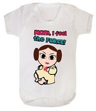 Baby Leia Star Wars Princess Girl Bodysuits Babygrow Playsuit Gift Cotton 0-24