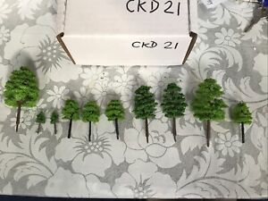 Z Scale   Set Of 10 Trees , Forest, Foliage, Scenery, Multiple Styles CKD21