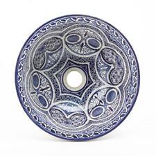 Waschbecken Ø 35 cm orientalisches Handmade handgetöpfert Keramik Fes70 Neu