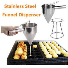 Stainless Steel Donut Cupcake Batter Dispenser Funnel Pancake Maker Helper Rack