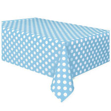 Plastic Table Cover Cloth Wipe Clean Party Tablecloth Covers Cloths Polka Dot