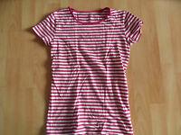 MARC O POLO schönes gestreiftes Shirt weiß pink Gr. XS TOP  (CE 03-14)