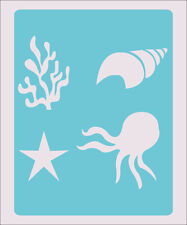 Sea Star Shell Coral Stencil Craft Paint Color Wall Decoration  Kids Template#32