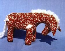 #61 DONKEY in Calico, with  moveable legs Stuffed toy PATTERN