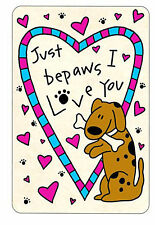New listing Just Be Paws I Love You - Edible Rawhide Card - Nip