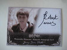 HARRY POTTER AUTOGRAPH CARD JAMES POTTER SIGNED BY ROBERT JARVIS SDCC 2009 RARE