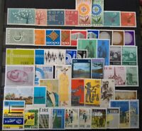 Worldwide Stamp Lots: Ireland EIRE MNH - 25 Different Full Sets Europa CEPT
