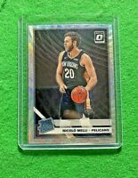 NICOLO MELLI PRIZM SILVER WAVE ROOKIE CARD PELICANS RC 2019-20 DONRUSS OPTIC RC