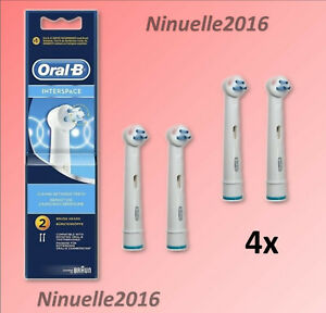 4x Testine di ricambio per spazzolino elettrico Oral-b Interspace Pulito TriZone