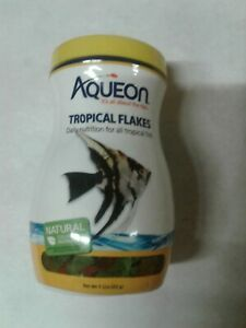 SEALED AQUEON  Tropical  Flakes 7.12 oz NATURAL COLOR & INGREDIENTS
