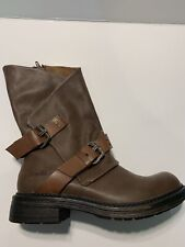 Blowfish Womens Forta Size 7.5M  Buckle Coffee Texas PU Ankle Boot -  New In Box