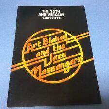 Art Blakey and Jazz Messengers 1979 JAPAN TOUR PROGRAM/ The 30th Anniversary
