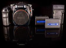 Sony Alpha a100 10.2 MP Digital SLR Camera - Black (Body Only)