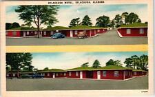 SYLACAUGA, Alabama  AL   Roadside  SYLACAUGA MOTEL  1952  Linen   Postcard
