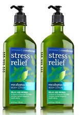 2 Bath & Body Works Aromatherapy Stress Relief Basil Body Lotion 6.5 oz new