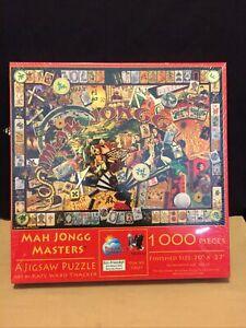 "Mah Jongg Masters Jigsaw Puzzle 1000 Pieces SunsOut 20"" X 27"" Kate Ward Thacker"