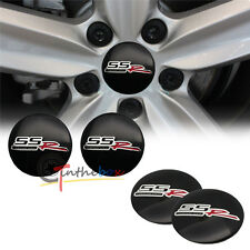 4PCS Black 56.5mm SS SSR Aluminum Car Wheel Center Hub Cap Stickers Emblems