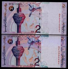 "Malaysia 1996-1999 Ahmad Don & Ali Abul Hassan Sign RM2 UNC Note Prefix ""DF""."