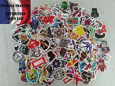 Lot de 50 Autocollants Stickers Tous Différents Valise, Skate, Tuning, PC...