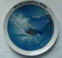 """WEIHNACHTSTELLER 1946 ROSENTHAL WILLY HEIN """"Im Kocheltal"""" PORZELLAN ca. 22 cm"""