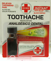 Red Cross Toothache Medication Kit ~ Instant Pain Relief ~ Eugenol Oil