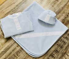 Baby Gift, Baby Boy footie, blanket and hat 100% Peruvian Pima Cotton, 0-3M