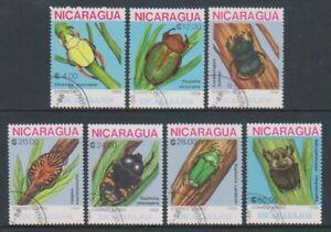 Nicaragua - 1988, Beetles set - CTO - SG 3011/17 (f)