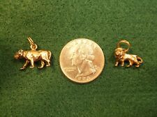 NEAT PAIR OF VTG STERLING SILVER CHARMS - LION AND LIONESS, NOT QUITE A MATCH