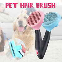 Pet Cat Dog Hair Brush Cleaning Comb Fur Shedding Grooming Trimmer Remover  A D