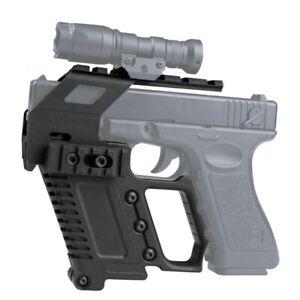 Tactical Laser Scope Rail Base Pistol Kit Quick Reload Fit Glock G17 G18 G19