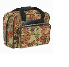 Sewing Machine Carrying Case Burgundy Floral
