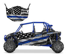 Polaris RZR 4 XP 1000 4 seater graphics wrap kit American Flag Thin Blue Line