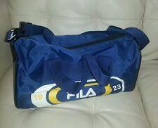 FILA duffle gym bag navy white yellow sport athletic small