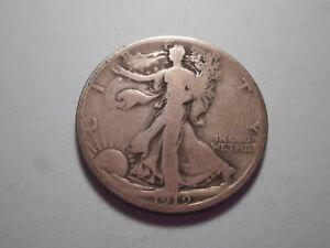 "1919 ""D"" RARE WALKING LIBERTY HALF DOLLAR G-VG  ONLY 1,165,000 MINTED"