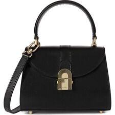 Woman Handbag Bag Furla 1927 Opera Mini Size NERO in Black Leather Crossbody Bag