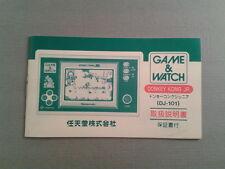 NINTENDO GAME&WATCH WIDESCREEN DONKEY KONG JR. DJ-101 JAPAN INSTRUCTION MANUAL