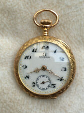 """Omega """"Open Face"""" Taschenuhr, 18K - 750er Gold, 20er Jahre, Damengröße"""