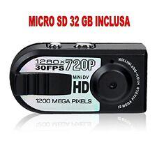 MINI TELECAMERA PORTATILE DIGITALE HD 720p +SD32GB RILEVATORE MOVIMENTO 1280x720