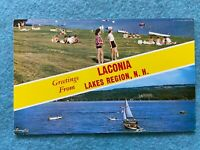 Greetings from Laconia Lakes Region, New Hampshire Vintage Postcard