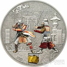 SAMURAI HISTORY Original Armor 1 Oz Silver Proof Coin 5$ Cook Islands 2015