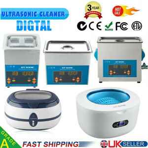 Digital Ultrasonic Cleaner Ultra Sonic Bath Jewellery Cleaning Tank Timer Heater