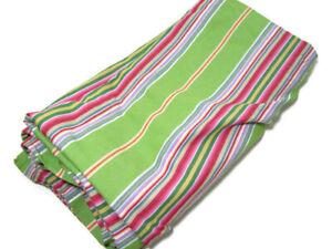 Pottery Barn Multi Colors Newport Stripe Fabric Shower Curtain USED