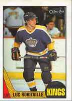 1987-88 O-Pee-Chee Luc Robitaille Rookie Los Angeles Kings #42